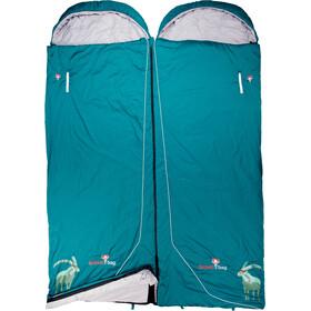 Grüezi-Bag Biopod Wool Goas Comfort - Sac de couchage - Bleu pétrole